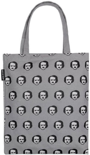 Poe-ka Dot (Gray) Tote Bag - The Library Marketplace