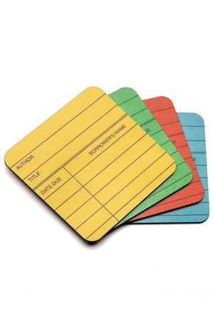 Library Card Coaster Set-Coasters-Out of Print-The Library Marketplace