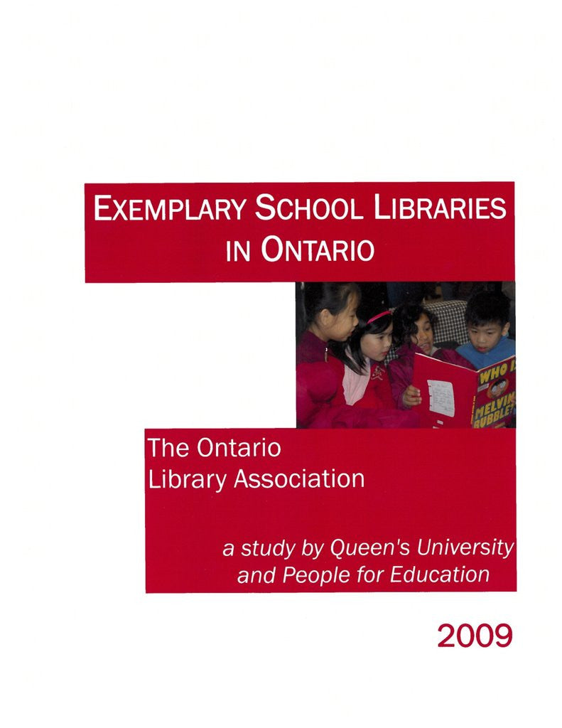 Exemplary School Libraries in Ontario-Paperback-OLA Press-The Library Marketplace