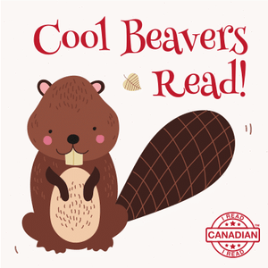 I Read Canadian™ Stickers 10/pack-Stickers-library.lust-Cool Beavers Read!-The Library Marketplace