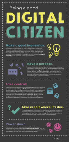 Being a Good Digital Citizen Poster - The Library Marketplace