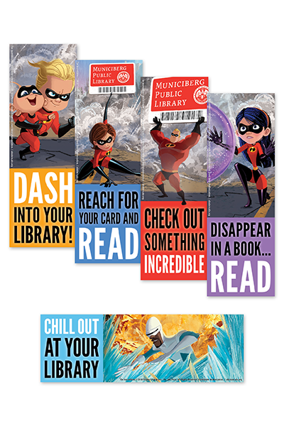 The Incredibles Bookmark-Bookmark-ALA Graphics-The Library Marketplace