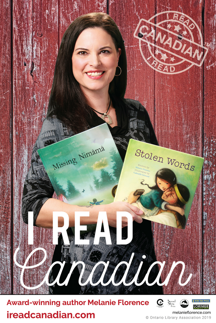 Melanie Florence Poster - I Read Canadian