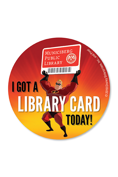 Mr. Incredible Library Stickers