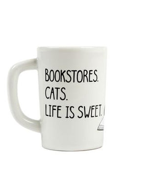 Bookstore cats mug