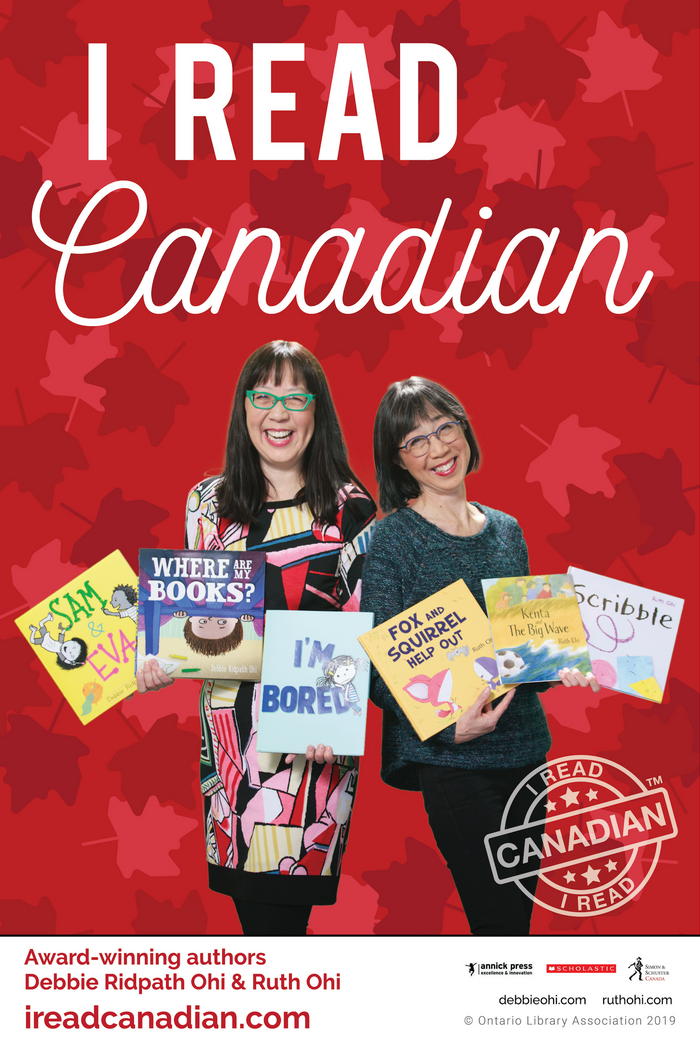 Debbie Ridpath Ohi & Ruth Ohi Poster - I Read Canadian