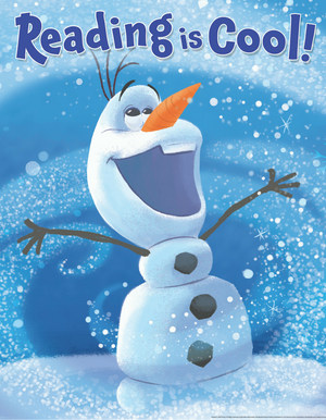 Olaf Reading is Cool Poster