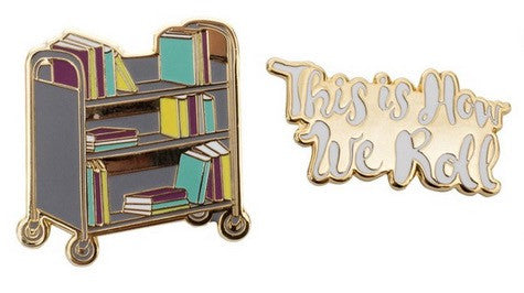 Book Truck Enamel Pin Set - The Library Marketplace