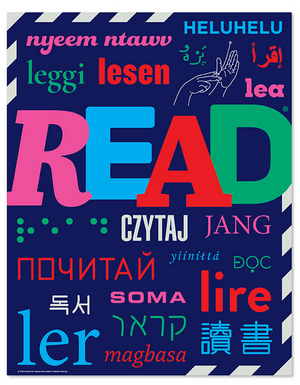 Read Around the World Poster