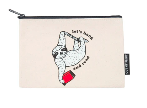 Book Sloth Pouch