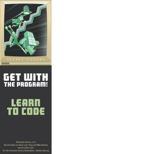 Secret Coders Bookmark