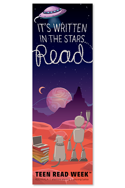 2018 Teen Read Week Bookmark-Bookmark-ALA Graphics-The Library Marketplace