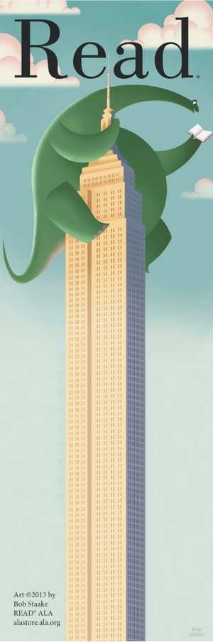 Brontosaurus Read Bookmark