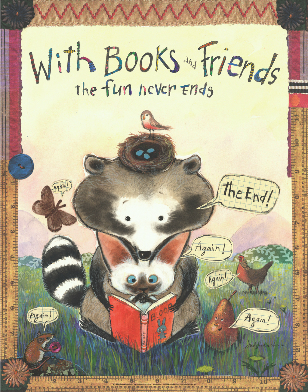 Books and Friends Poster