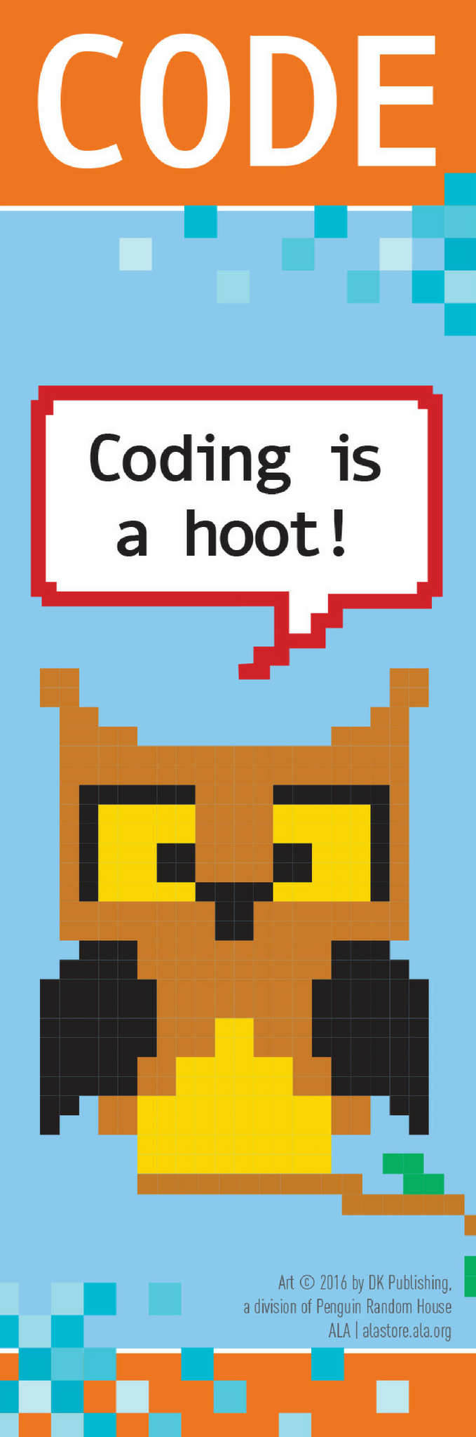 Coding is a Hoot Bookmark