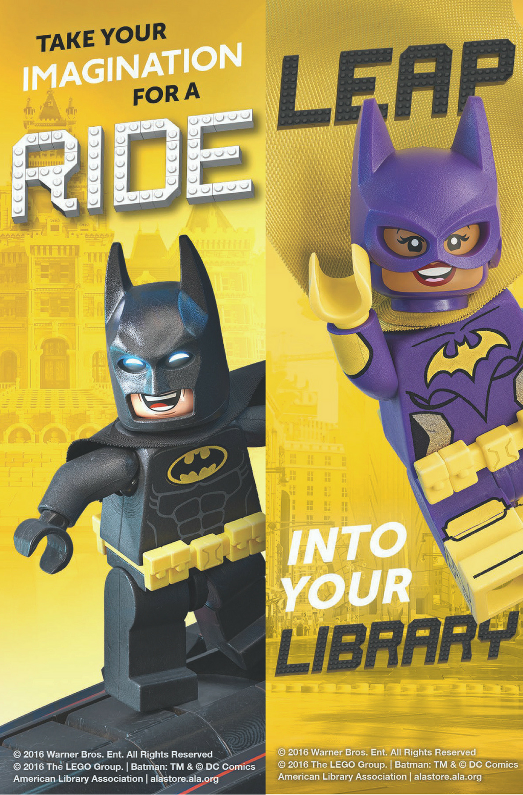 LEGO Batman and Batgirl Bookmark