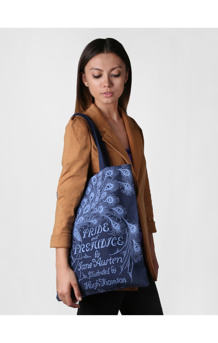Pride and Prejudice (Navy) Tote Bag