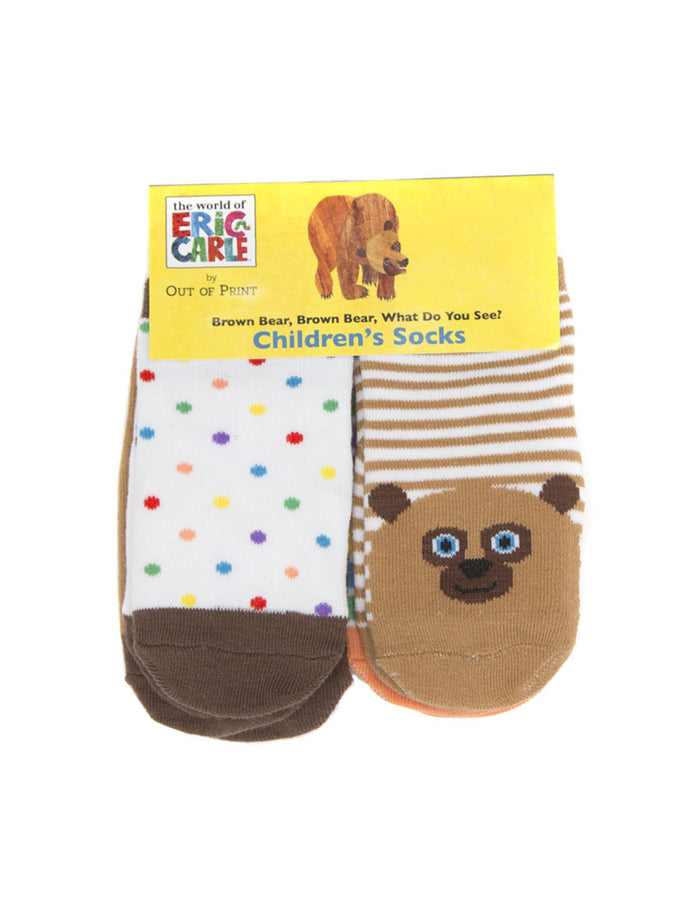 Brown Bear, Brown Bear, What Do You See? Baby/Toddler Sock 4-pack