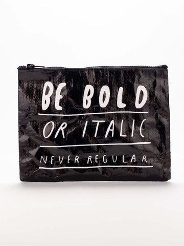 Bold Italic Zipper Pouch - The Library Marketplace