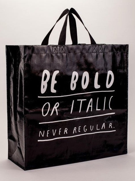 Bold Italic Shopper - The Library Marketplace