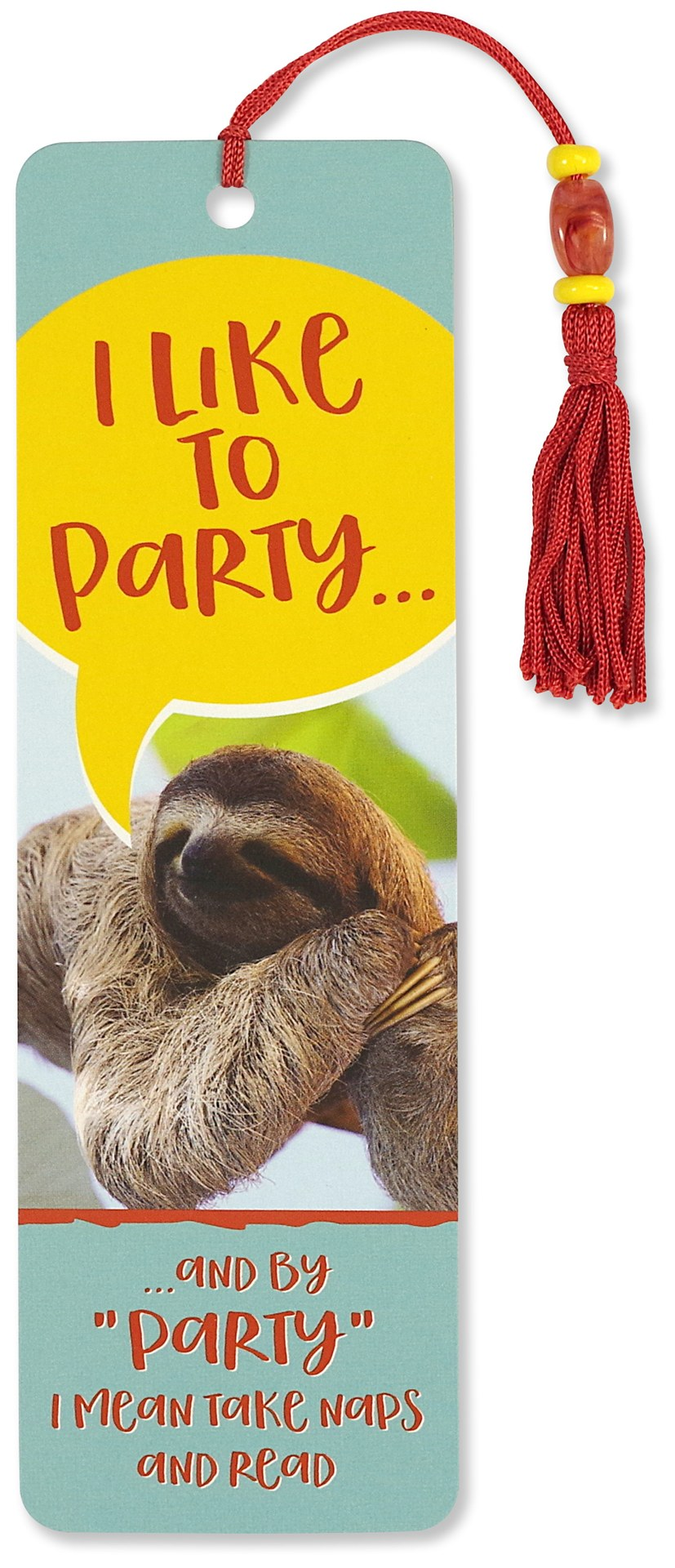 I Like to Party Beaded Bookmark-Beaded Bookmark-Peter Pauper Press-The Library Marketplace