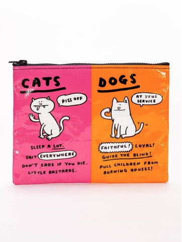 Cats & Dogs Zipper Pouch - The Library Marketplace