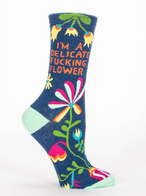 Delicate F***ing Flower Socks - The Library Marketplace
