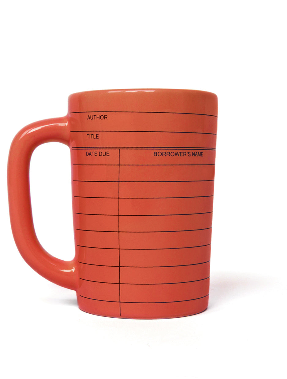 Library Card Mug (Red)-Mug-Out of Print-The Library Marketplace