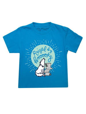 Raised by Books Kid's T-Shirt