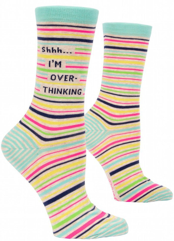 Shhh... I'm Over Thinking Women's Crew Socks