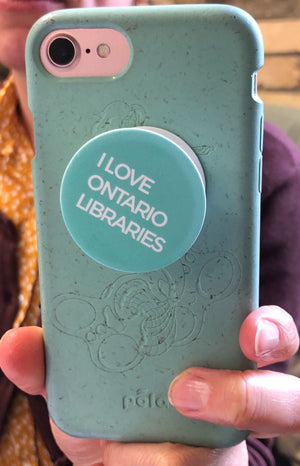 I Love Ontario Libraries Cellphone Popper