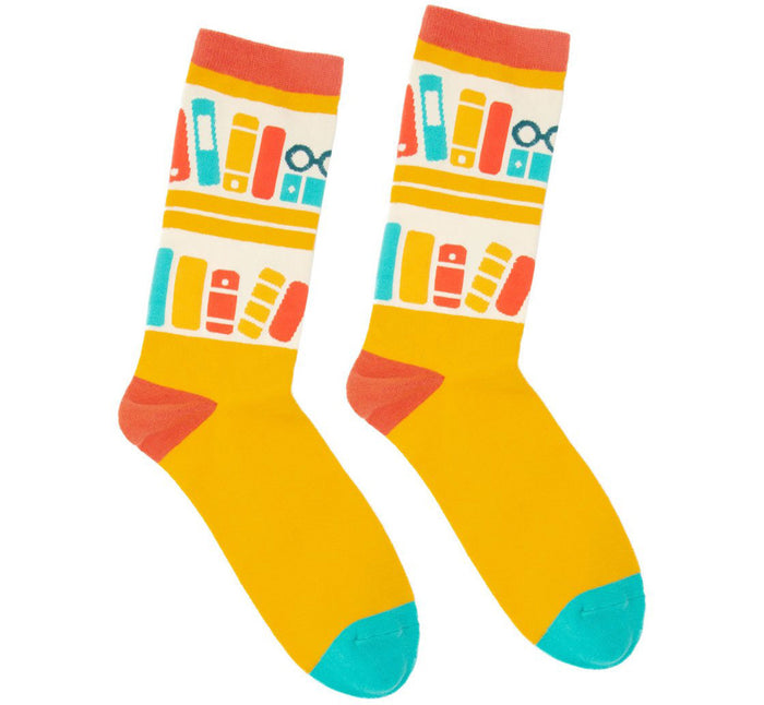Yellow Bookshelf Socks