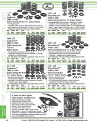 Page 126 of the 2021 Goodson Catalog highlights valve spring kits