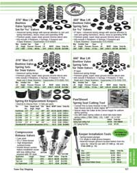 Page 127 of the 2021 Goodson catalog shows beehive spring sets