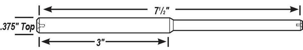 ".375"" Top Solid Tapered Carbide Pilots"