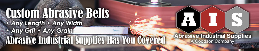 Custom Abrasive Belts are easy at Abrasive Industrial Supplies