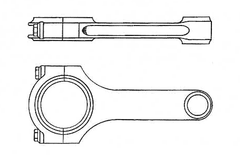 Face and side view of connecting rod