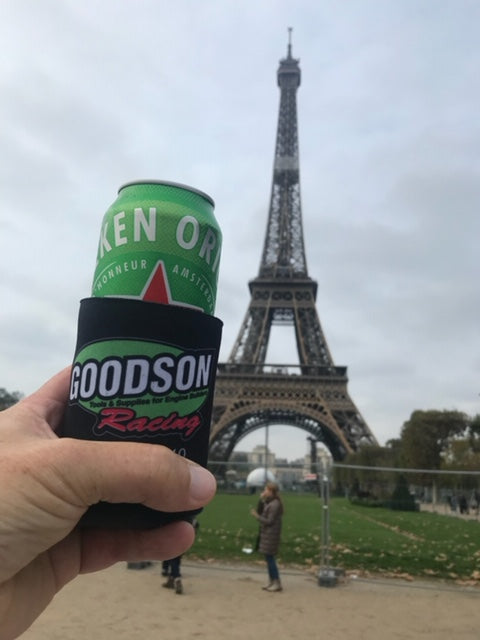 Goodson Koozie at the Eiffel Tower - 2020 Contest Winner!