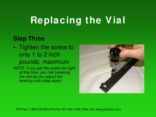 Maintaining Your Machinists Level : Replacing the Vial - 5