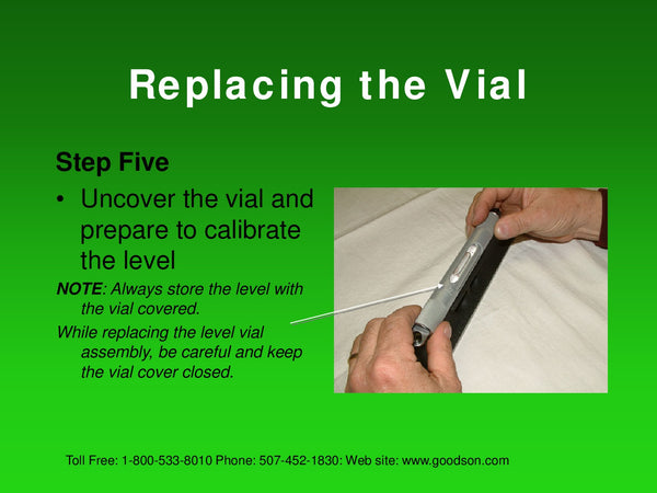 Maintaining Your Machinists Level : Replacing the Vial - 7