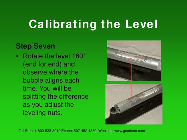 Maintaining Your Machinists Level : Calibrating the Level - 3