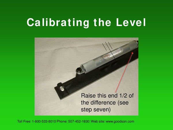 Maintaining Your Machinists Level : Calibrating the Level - 6