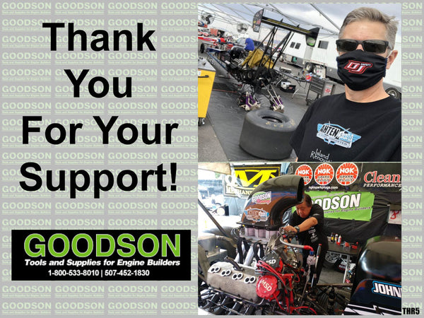 Goodson, Thank you for your support