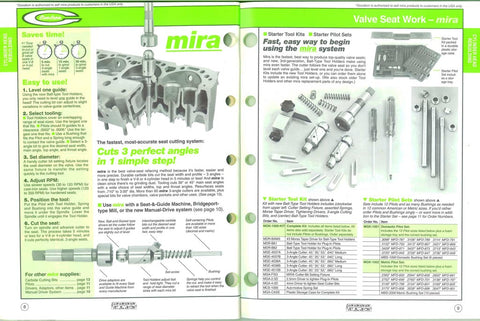 Goodson 1994 Catalog featuring mira® seat cutting system