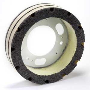 "GS-545 : 12"" x 3"" x 1.5"" Serrated Plate Resurfacer Wheel"