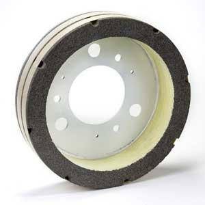 "GS-545B : 14"" x 3"" x 1.5"" Serrated Plate Resurfacer Wheel"