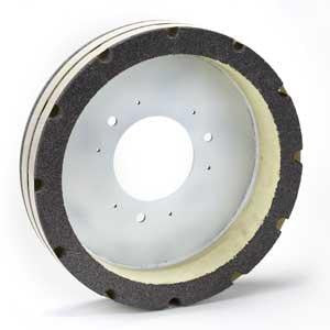 "GS-545BL : 16"" x 3"" x 1.5"" 24 Grit Serrated Plate Resurfacer Wheel"