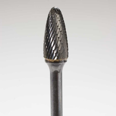 Long Shank Double Cut Carbide Rotary Files