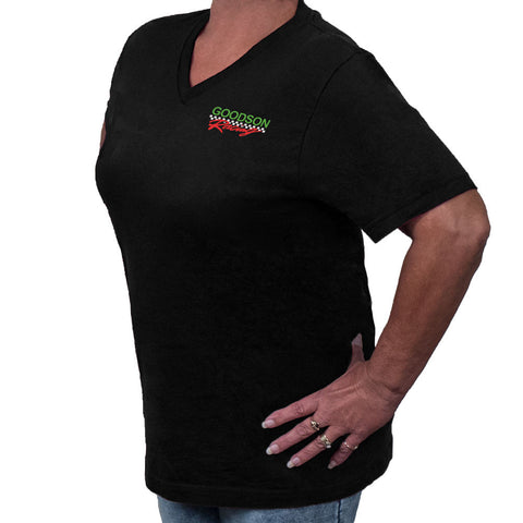 Ladies Black Cotton T-Shirt