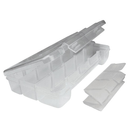 SO-140 : Small Clear Plastic Storage Box With Dividers & Inserts